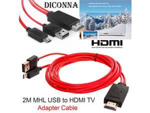 Micro USB to HDMI 1080P HD TV Cable Adapter for Samsung for Android Phones 11 PIN