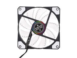 120mm PC Computer 16dB Ultra Silent 15 LEDs Case Fan Heatsink Cooler Cooling w/ Anti-Vibration Rubber,12CM Fan,12VDC TX 3Pin and Molex 4pin