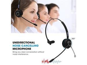 Wireless Headset With Microphone Call Center Charging Base Bluetooth Headsets Traffic Headphone Customer Service Offices Supply