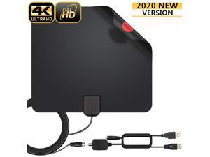 Digital TV Antenna 980 Miles Signal Booster Amplifier High-qualit HDTV Indoor USB Thin HDTV Antenna