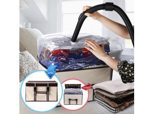 Foldable Vacuum Storage Box Non-Woven Fabric Storage Underbed Bin For Clothes Quilt Duvet Storage Organizer