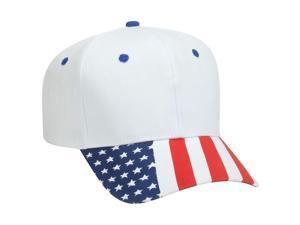81f8012e738 OTTO United States Flag Pattern Visor Cotton Twill 6 ...
