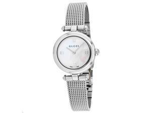 Gucci Women's Diamantissima Mother of Pearl Dial Watch - YA141504