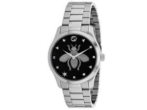 Gucci Women's Timeless Black Dial Watch - YA1264136