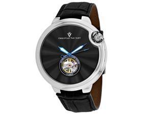 Christian Van Sant Men's Cyclone Automatic Black Dial Watch - CV0146