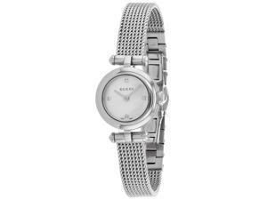 Gucci Women's Diamantissima Silver Dial Watch - YA141512