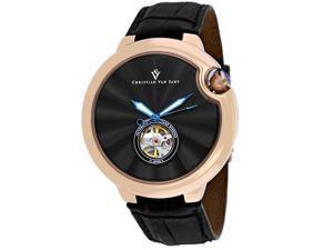 Christian Van Sant Men's Cyclone Automatic Black Dial Watch - CV0147