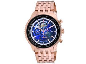Seapro Men's Meridian World Timer GMT Blue Dial Watch - SP7321
