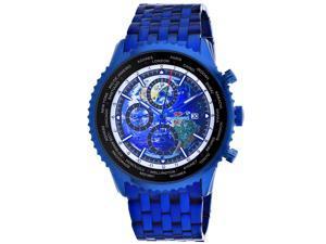 Seapro Men's Meridian World Timer GMT Blue Dial Watch - SP7323