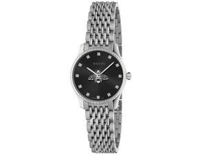 Gucci Women's G-Timeless Bee Black Dial Watch - YA1265020
