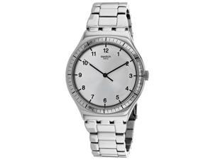 Swatch Men's Argento Silver Dial Watch - YWS100G
