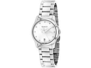 Gucci Women's G-Timeless White MOP Dial Watch - YA126542