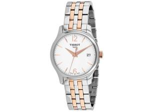 Tissot Women's Tradition White Dial Watch - T0632102203701