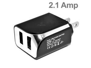 Premium Heavy Duty 2 in 1 DUAL Port Home Wall Charger and 5 Ft Micro USB Cable for Motorola Droid RAZR M / Luge