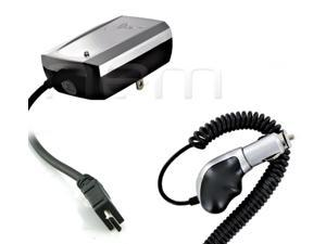 For Motorola Droid RAZR M / Luge 2in1 Heavy Duty Premium Vehicle CAR + HOME Charger with Built-In Micro USB Cable