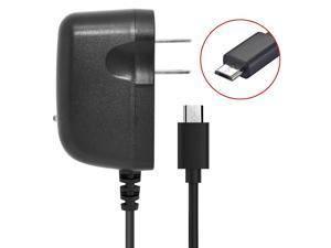 Home Wall Travel Charger Compatible with Motorola Droid RAZR M / Luge Cell Phones [by NEM - 3 feet Long Cord] Black