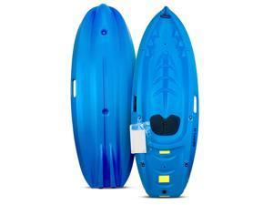 SeaFlo Beginner Kayak Kids Youth Paddle Lake Ocean Blue Single Person 130lb Max