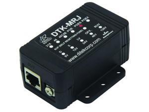 Ditek DTK-MRJPOES Shielded Gigabit PoE Surge Protection