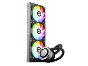 LIAN LI GALAHAD AIO 360 RGB BLACK, Triple 120mm Addressable RGB Fans AIO CPU Liquid Cooler