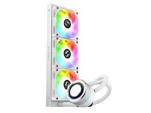 LIAN LI GALAHAD AIO 360 RGB WHITE, Triple 120mm Addressable RGB Fans AIO CPU Liquid Cooler