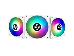 LIAN LI ST120-3W ,12CM ARGB FANS , WHITE COLOR  , 3 FANS PACK WITH FAN CONTROLLER