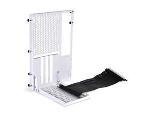 LIAN LI O11DMINI-1X-4  Premium PCI-E 16 X 4.0 Black Extender Riser Cable 200mm and  White Covert Bracket for O11DMINI-W