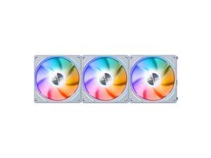 LIAN LI UNI FAN AL120 RGB WHITE 3X 12CM FAN PACK WITH CONTROLLER  ---UF-AL120-3W