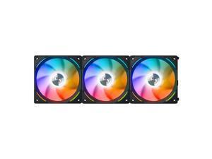 LIAN LI UNI FAN AL120 RGB BLACK 3X 12CM FAN PACK WITH CONTROLLER  ---UF-AL120-3B