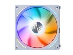 LIAN LI UNI FAN AL120 RGB White 12CM FAN SINGLE PACK WITHOUT CONTROLLER  ---UF-AL120-1W