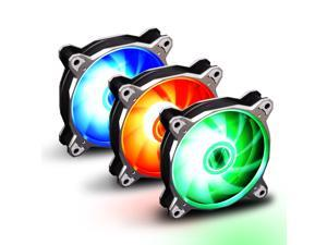 LIAN LI BORALITE Series RGB BORALITE120-3A S, 120mm  LED PWM Fan, 3 FANS Pack - Silver Frame  (LEDs Powered by Motherboard 4 PIN Headers. No LEDs Controller Included)--1 Year Warranty