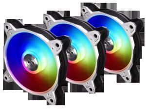 LIAN LI BORA DIGITAL Series RGB BR DIGITAL-3R S, 120mm Addressable RGB LED PWM Fan, 3 FANS Pack - Silver Frame