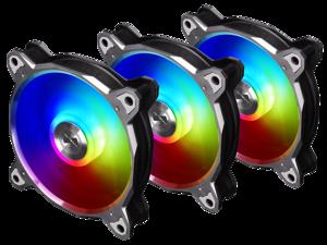 LIAN LI BORA DIGITAL Series RGB BR DIGITAL-3R G, 120mm Addressable RGB LED PWM Fan, 3 FANS Pack - Grey Frame