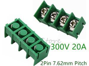10Pcs KF7.62 4Pin 7.62mm Pitch 300V 20A PCB Pluggable Terminal Block Connectors