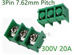 10Pcs KF7.62 3Pin 7.62mm Pitch 300V 20A PCB Pluggable Terminal Block Connectors