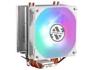 ABKONCORE CT407W CPU AIR Cooler with 92mm PWM Silent Fan, 4 Continuous Direct Contact Heatpipes, Rainbow Spectrum LED for Intel, AMD AM4/Ryzen CPUs