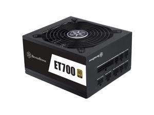 Silverstone Technology ET700-MG 700 Watt Fully Modular Plus Gold ATX Power Supply with Flat Black Flex Cables and Improved Capacitors (SST-ET700-MG)