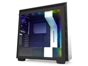 NZXT H710i - CA-H710 i-W1 - ATX Mid Tower PC Gaming Case - Front I/O USB Type-C Port - Quick-Release Tempered Glass Side Panel - Vertical GPU Mount - Integrated RGB Lighting - White/Black