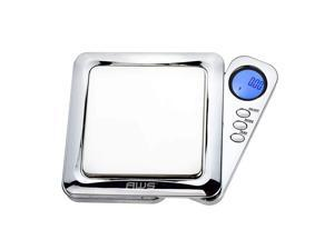 American Weigh Scales Blade Series Digital Precision Pocket Weight Scale with Silicone Mat, Chrome, 100g x 0.01g (BL-100-CH-SE)
