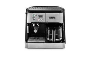 DeLonghi BCO430 Combination Pump Espresso and 10-cup Drip Coffee Machine with Frothing Wand, Silver and Black