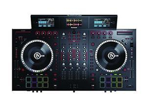 Numark NS7III | 4-Channel Motorized DJ Controller & Mixer with Screens and free Remix/Sampling Program downloads