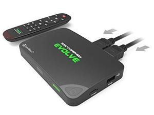 HDML-Cloner Box Evolve, 2 HDMI inputs and 4K video input supported, Capture HDMI videos and games to USB flash drive/TF MicroSD card without PC, Schedule capturing, remote control, CEC supported.