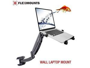 Fleximounts M10 Laptop Wall Mount 2 in 1 LCD arm for 11-17.3 inch Laptop, Notebook Tray Included or 10-27 inch Computer LCDs for Dental Clinic