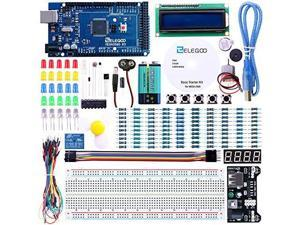 ELEGOO Mega 2560 R3 Project Starter Kit for Arduino Mega2560 UNO R3 Mega328 Nano - Including 16 Tutorials CD