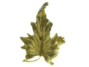 Gold-Tone Metal Brooch-Pin With Crystal Accents LQP371