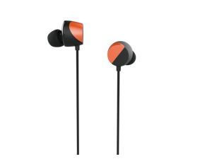 """TUNAI DRUM Hi-Res Certified Bass Enhanced Earphone - In-ear Headphones with Extra Large 1/2"""" Drivers for Improved Bass Response, Good Clarity, Wide Soundstage & Precise Sound Positioning (Orange)"""