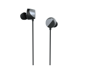 """TUNAI DRUM Hi-Res Certified Bass Enhanced Earphone - In-ear Headphones with Extra Large 1/2"""" Drivers for Improved Bass Response, Good Clarity, Wide Soundstage & Precise Sound Positioning (Silver)"""