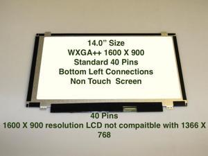 """Au Optronics B140rtn02.2 Replacement LAPTOP LCD Screen 14.0"""" WXGA++ LED DIODE (Substitute Only. Not a )"""