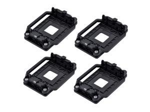 uxcell Plastic AMD CPU Fan Heatsink Bracket Base Socket 4pcs Black for AM2 AM3 AM2 AM3