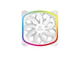 Enermax SquA 120mm Dual Light Loop RGB LED PWN Fan Plug & Play Single Pack - White, UCSQARGB12P-W-SG