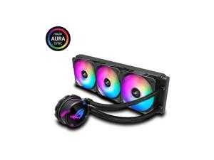 ASUS ROG Strix LC 360 RGB All-in-one AIO Liquid CPU Cooler 360mm Radiator, Intel 115x/2066 and AMD AM4/TR4 Support, Triple 120mm 4-pin PWM Fans (Addressable RGB Fans)